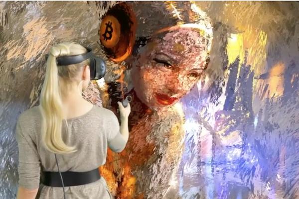 VR空間に3次元の絵を描く女性アーティストが斬新