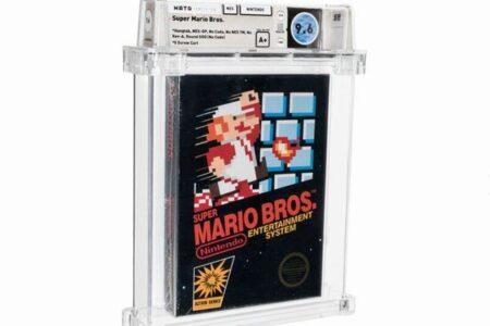 1986年の未開封のゲーム、「スーパー・マリオ」が7300万円で落札