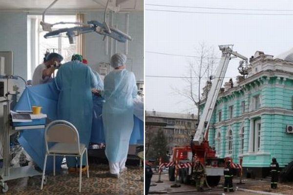 ロシアの病院で火災が発生、医師たちが避難せず心臓の外科手術をやり遂げる