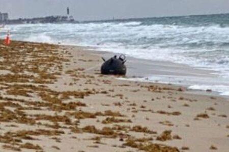 【恐怖】ビーチに打ち上げられた灰色の球体、なんと米海軍の機雷だった!