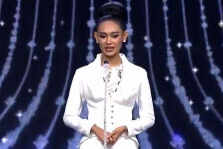 ミャンマー代表のビューティークィーンが、危険を冒しコンテストで世界に支援を訴える