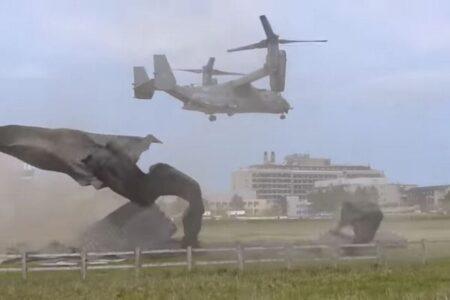米空軍のオスプレーが英病院のヘリパッドを破壊、その動画が強烈すぎる
