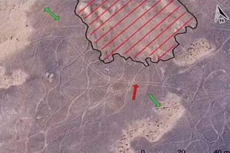 インドの砂漠地帯で巨大な地上絵を発見、世界最大のジオグリフか