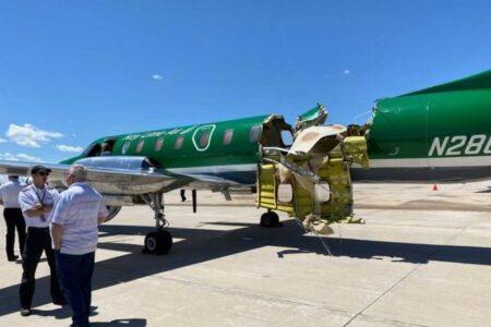 米上空で2機の飛行機が衝突、機体が大破するも奇跡的にケガ人はなし