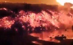 コンゴ民主共和国で火山が噴火、大量の溶岩が街を襲う動画の数々