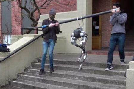 カメラやセンサーもなく、「感覚」だけで階段を昇り降りするロボットを開発中