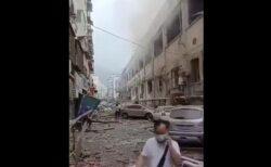 中国湖北省でガス爆発、破壊された市場の惨状【動画】