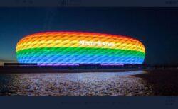 ドイツのサッカースタジアムがUEFAの命令を無視、レインボーカラーをライトアップ