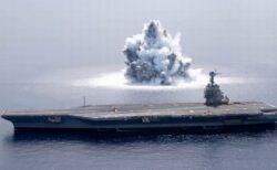 米海軍が空母を使い衝撃テスト、爆発でM3.9の地震も発生