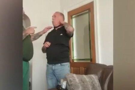 ペット用の電気ショックの首輪を試した男性、果たしてその結果は?