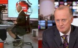 BBCのニュースキャスター、背広の下半身は短パンだった