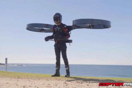 バックパック・ヘリコプターが試験飛行に成功、自由に方向を変えて飛ぶ姿が楽しそう!【動画】