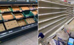 イギリス中のスーパーで商品棚がスカスカ、その意外な原因とは?