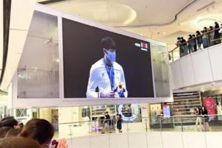 【東京五輪】香港の選手が金メダル、表彰式で多くの市民が中国国歌にブーイング