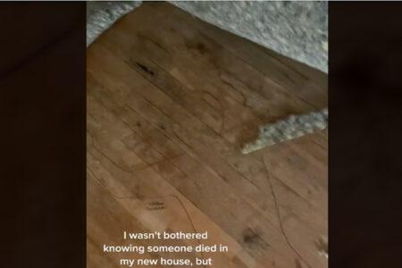 事故物件と知りながら引っ越した女性、カーペットの下を見てさすがにゾ〜ッ