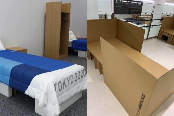 「アンチ・セックス」と海外で呼ばれる五輪選手村のダンボール製ベッドに、アスリートが反応