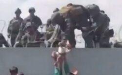 「せめて我が子だけでも…」アフガンの母親が、兵士に赤ん坊を託す