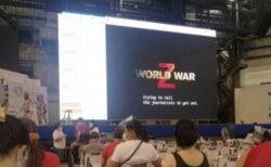フィリピンのワクチン接種会場で、ゾンビ映画が上映されてしまう