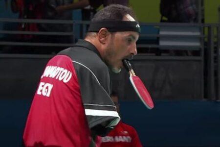 【パラリンピック】ラケットを口でくわえてスマッシュ!エジプトの卓球選手がすごい