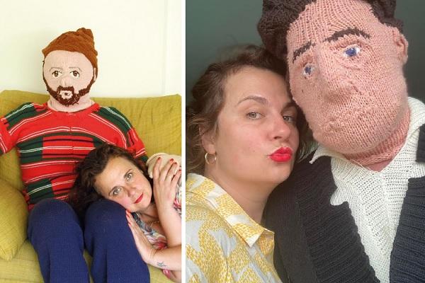 どこまで本気? 毛糸で息子と理想の夫を編んだアーティスト