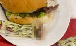 ボリビアの女性が食べていたハンバーガーに違和感、人間の指が入っていた!