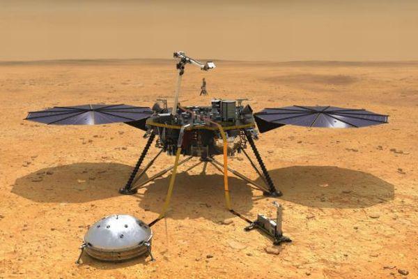 火星探査機「インサイト」がM4.2の地震を検知、揺れが1時間半も続く