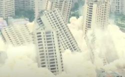 15棟の高層ビルを一斉爆破、45秒で解体する様子が壮観【中国】